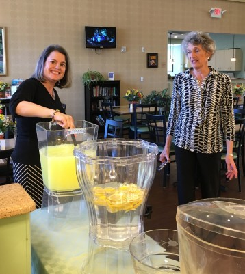 Julie, Beth, lemonade