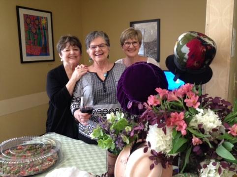 Peggy, dottye, beverly, hats, flowers