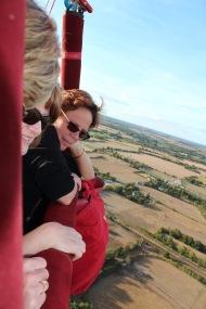 Kathy and Barbara in balloon