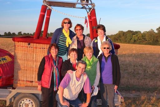 Kathy, Barbara, Monica, Kay, Peggy, Beverly, Beth, Michael, the aeronaute